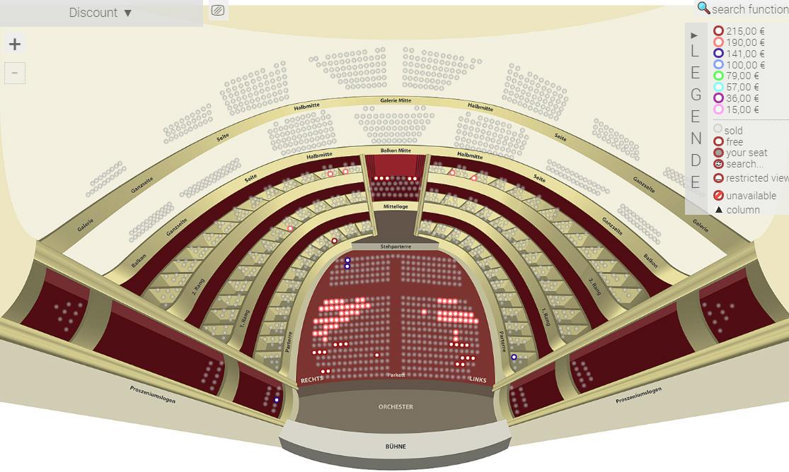 Схема зала Венской оперы