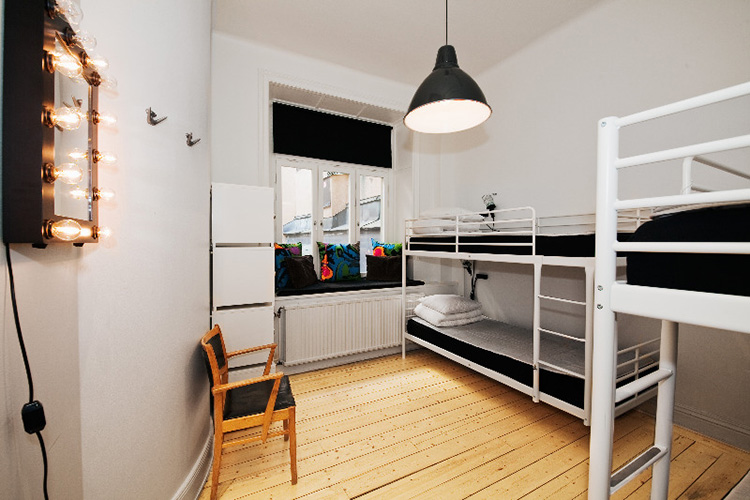 Общая комната для четырех девушек в хостеле City Backpackers Hostel, Стокгольм