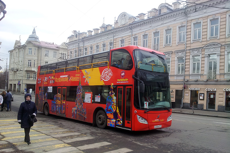 Автобус City Sightseeing Hop-in Hop-off в Москве