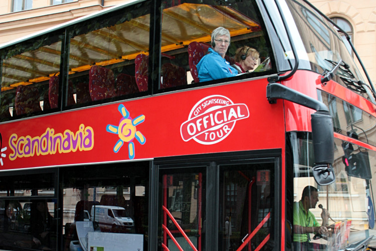 Автобус City Sightseeing Hop-in Hop-off в Стокгольме